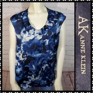 AK ANNE KLEIN MEDIUM BLUE BLOUSE